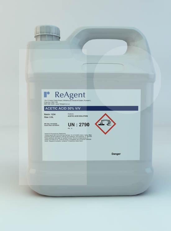 Ethanoic Acid 50% v/v