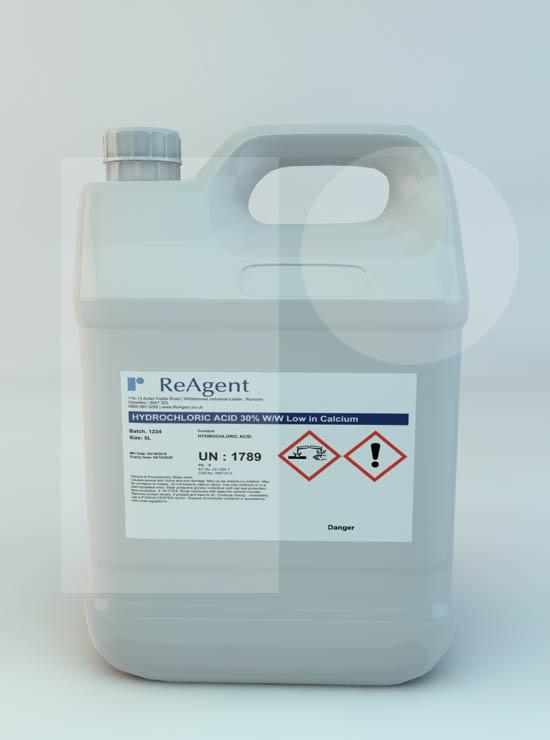 Hydrochloric Acid 30% w/w low in calcium