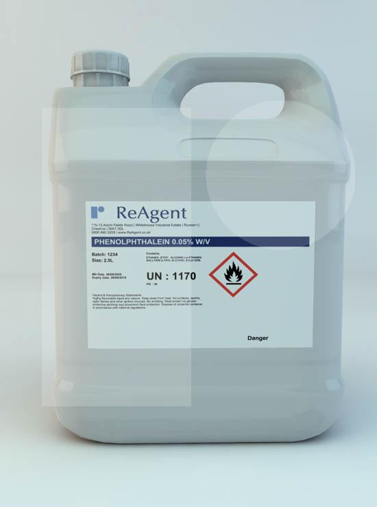 Phenolphthalein 0.05% w/v