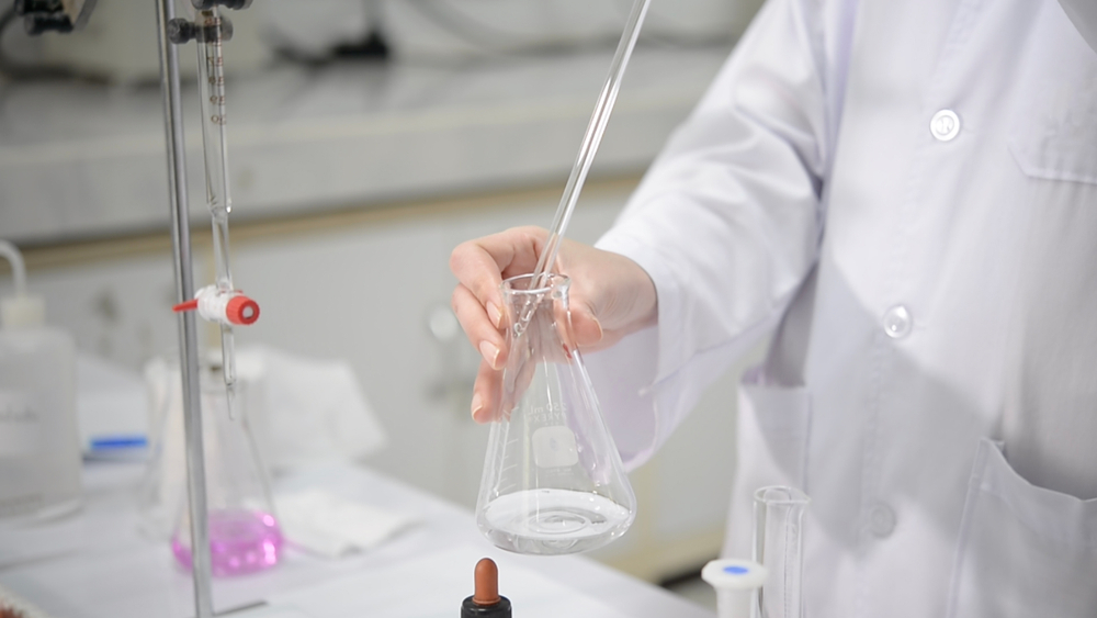 Chemical indicators being used in titration