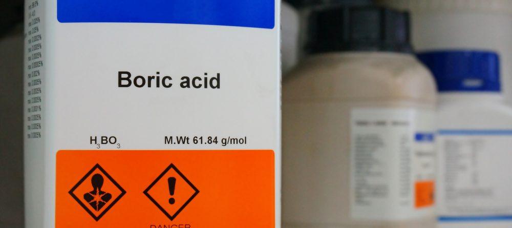 What is boric acid - bottle of boric acid