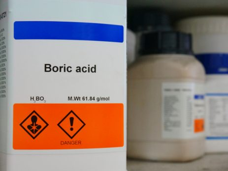 What is boric acid bottle of boric acid