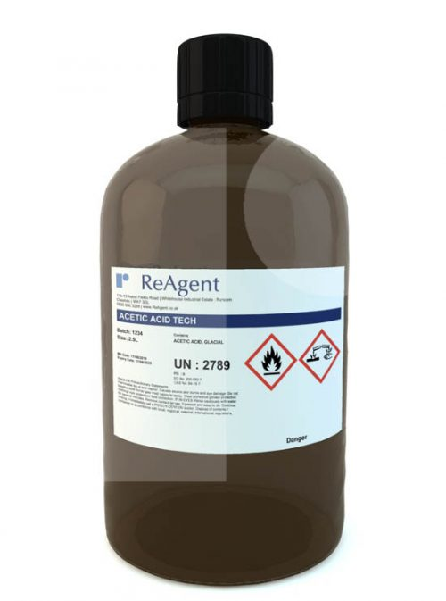 Acetic Acid Glacial General Use 2.5L packsize