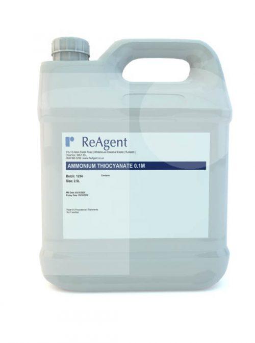 Ammonium Thiocyanate 0.1M 2.5L packsize