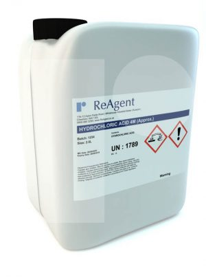 Hydrochloric Acid 4M approx 2.5L packsize