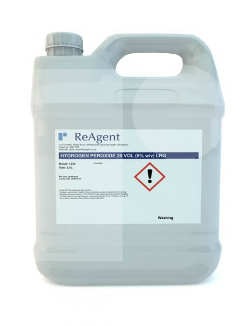 Hydrogen Peroxide 6 20 Vols 2.5L packsize
