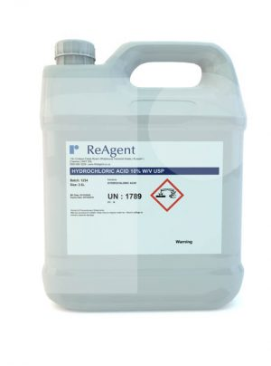 Muriatic Acid 10 wv USP 2.5L packsize