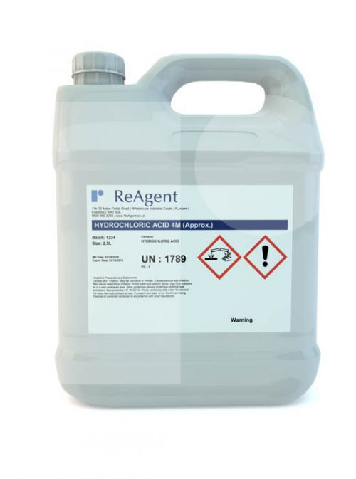 Muriatic Acid 4M approx 2.5L packsize