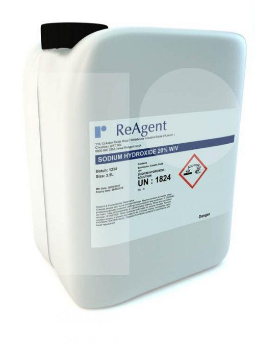 Sodium Hydroxide 20 wv 2.5L packsize