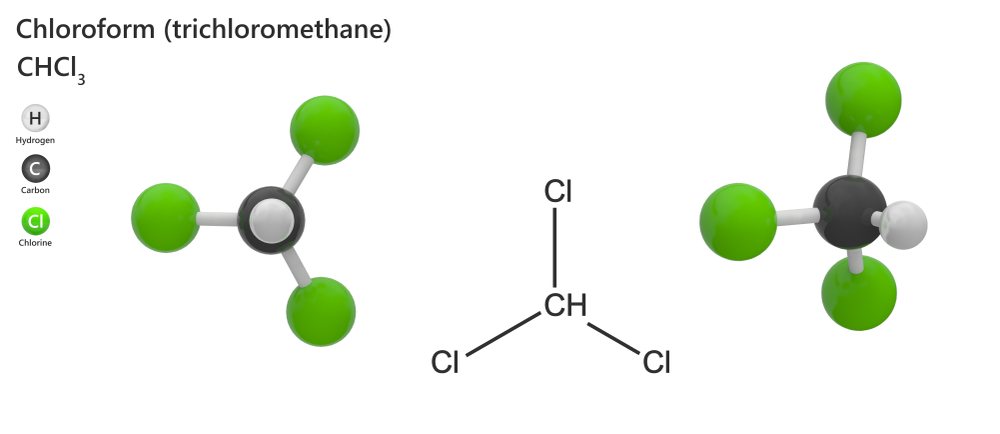 The chemical structure of chloroform