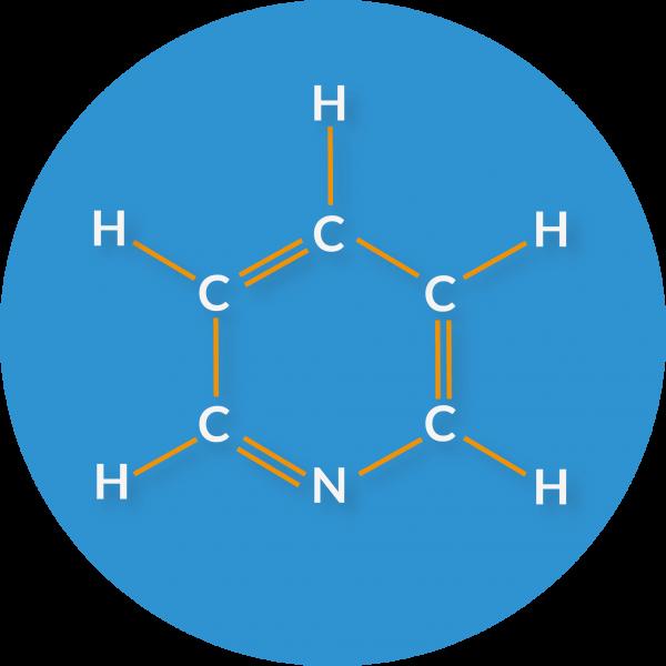 Molecular structure of pyridine