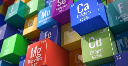 3D render of elements from periodic table
